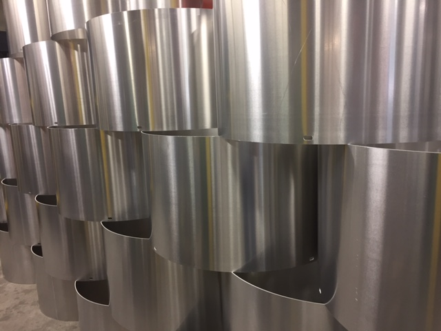 rolled aluminum cylinders